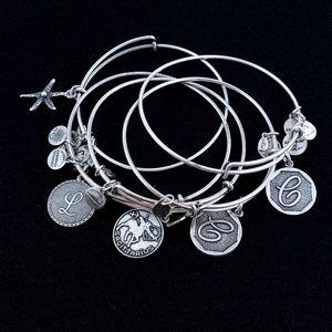 5 Alex and Ani bracelets 5 Bracelets Silver Tone